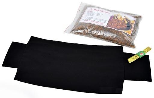 Túi chườm muối thảo dược giảm eo.